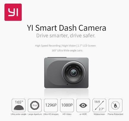 купить YI салона автомобиля Камера Wi-Fi тире DVR Регистраторы с ночным Vision165 градусов ADAS регистраторы 1080 P 60fps автомобиля Камера регистратор