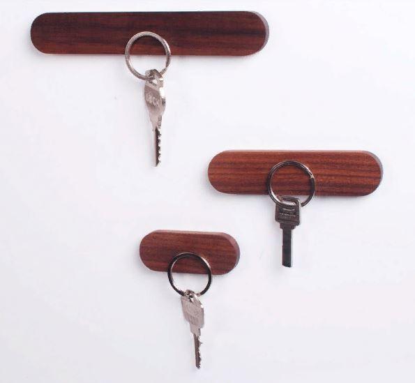 Деревянный держатель для ключей, настенный органайзер для хранения ключей, крепкая Магнитная вешалка для ключей, крючки для ключей, ключница на стене купить дешево на алиэкспресс