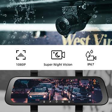 купить на алиэкспресс со скидкой Новый 9,35 дюймовый полный экран 70mai камера заднего вида широкий 1080P авто камера 130FOV 70mai зеркало Автомобильный рекордер поток медиа Автомобильный видеорегистратор