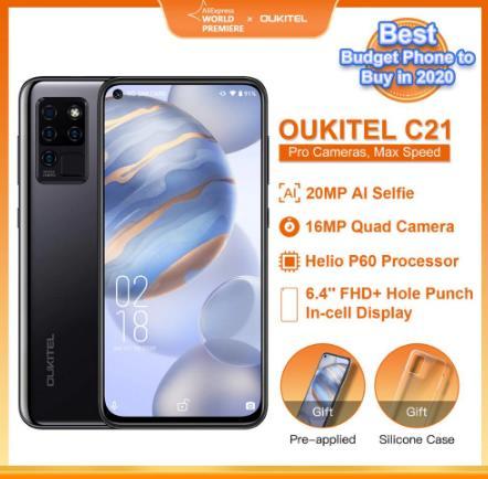 купить на алиэкспресс OUKITEL C21 Quad Камера 20MP селфи Octa Core Helio P60 4 + 64 Гб телефон 6,4 ''FHD + Дырокол Экран 4000 мА/ч, 4G Мобильный телефон Смартфон