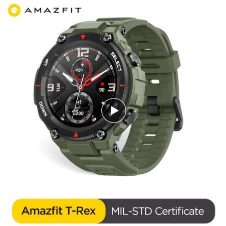 Оригинальные Смарт-часы Amazfit T-rex, 5 АТМ, термостойкие, MIL-STD, умные часы с GPS/GLONASS AMOLED экраном для iOS, Android купить со скидкой на aliexpress с промокодом и купоном