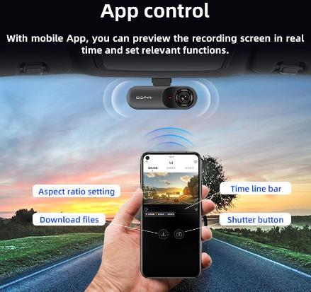 купить дешево со скидкой на aliexpress GPS автомобильный видеорегистратор ddpai dash cam