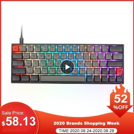 Механическая Bluetooth RGB клавиатура купить на Aliexpress по низкой цене, красные синие и черные переключатели gateron