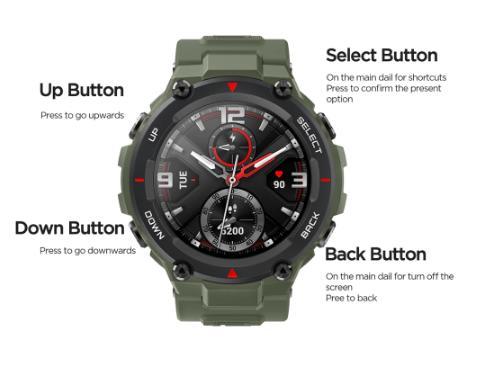 купить на алиэкспресс Оригинальные Смарт-часы Amazfit T-rex, 5 АТМ, термостойкие, MIL-STD, умные часы с GPS/GLONASS AMOLED экраном для iOS, Android