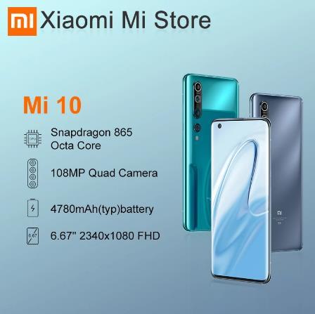 купить со скидкой на алиэкспресс Глобальная версия смартфона Xiaomi Mi 10, 8 ГБ, 128 ГБ, 5G, LPDDR5 USF 3,0, Snapdragon 865, Восьмиядерный, 6,67 дюйма, AMOLED, 90 Гц