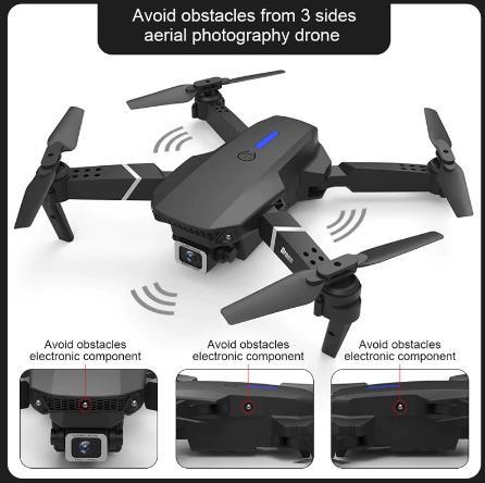 E525 PRO 4K мини-Дрон Profissional обходом препятствий двойной Камера фиксированная высота Квадрокоптер с дистанционным управлением Дрон вертолет игрушки купить на алиэкспресс