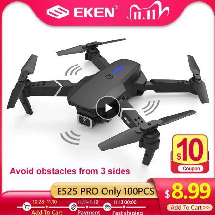 E525 PRO 4K мини-Дрон Profissional обходом препятствий двойной Камера фиксированная высота Квадрокоптер с дистанционным управлением Дрон вертолет игрушки купить дешево 11.11 на алиэкспресс со скидкой за 350р