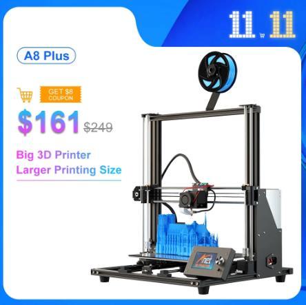 Набор 3D-принтеров Anet A8 Plus 300*300*350 мм большой размер печати двойная ось Z 3D DIY Набор Reprap i3 Max с 10 м PLA нитью 3Д Принте купить на алиэкспрессе со скидкой