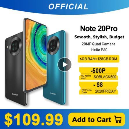 Cubot Note 20 Pro Quad Camera смартфон Четыре камера 6 Гб + 128ГБ NFC телефон 6,5 дюйма 4200 мАч Большая Батарея новая Android 10 система две sim-карты мобильные телефоны 4G LTE celular OTG глобальная версия Note20 Pro купить на алиэкспресс