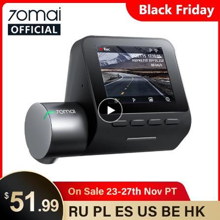 купить 70mai Smart Dash Cam Pro 1944P Скорость координаты GPS ADAS 70mai Pro автомобиля тире Камера Wi-Fi 70mai Видеорегистраторы для автомобилей Голос Управление 24 часа в сутки для парковки на алиэкспресс