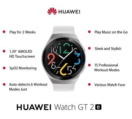 Оригинальные Смарт-часы HUAWEI GT 2e 100 спортивные режимы gt2e 5ATM 1,39 дюйма AMOLED 2 недели ожидания спортивные часы GT Lite Водонепроницаемые