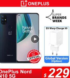 Чехол из ПВХ для OnePlus Nord N10 5G OnePlus официального магазина Carter's мировая премьера глобальная версия 6 ГБ 128 Snapdragon 690 смартфон 90 Гц Дисплей 64MP