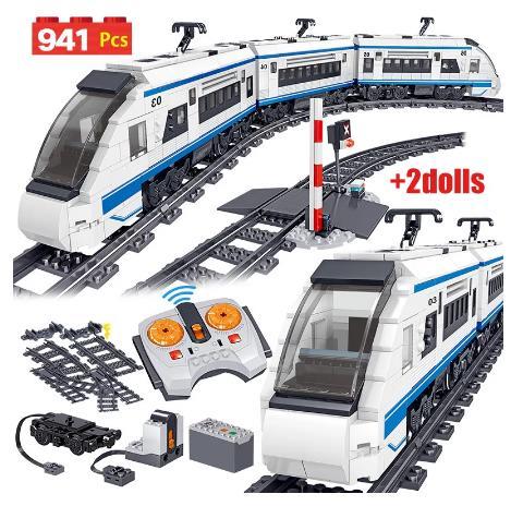 купить на алиэкспресс 41 шт., Детский конструктор «Электрический поезд»