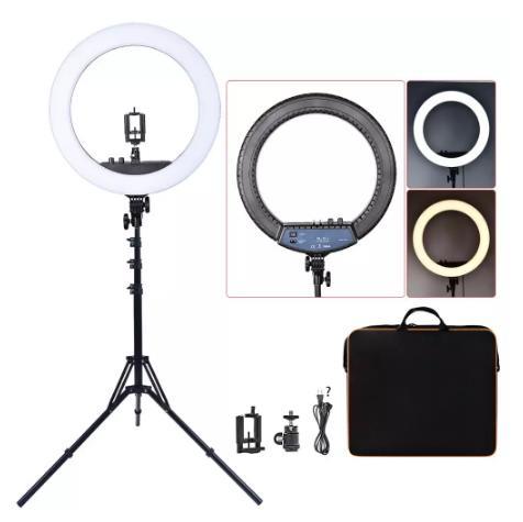 FOSOTO RL-18II светильник для фотосъемки ing 512 светодиодов кольцевая лампа 3200K-5600K с регулируемой яркостью светодиодный кольцевой светильник для фотостудии купить на алиэкспресс