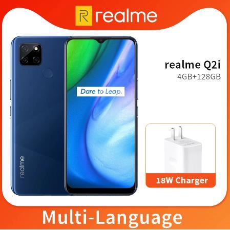 Realme Q2i 5G 4GB 128GB Dimensity 720 Octa Core Mobile Phone 6.5 '' Полноэкранный аккумулятор 5000mAh 13MP Тройная камера