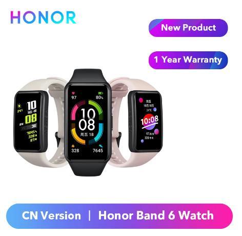 купить на алиэкспресс Оригинальный Смарт-браслет Honor Band 6, Смарт-часы китайской версии, пульсометр, датчик уровня кислорода в крови, сенсорный экран Amoled, водонепроницаемый