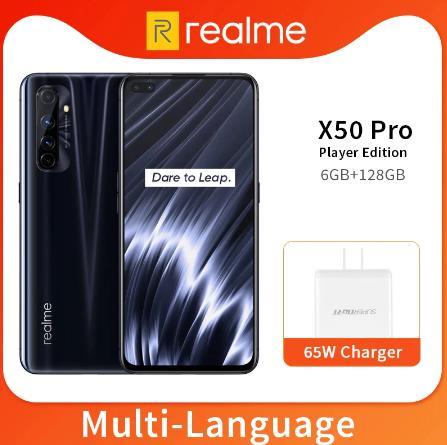 Realme X50 Pro X50 5G 6GB 128GB 6,44 90Hz SuperAmoled экран мобильный телефон Snapdragon 865 65W Superdart зарядка