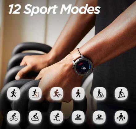 Смарт-часы Amazfit GTR 5ATM водонепроницаемые Смарт-часы 24 дня батарея управление музыкой кожаный силиконовый ремешок