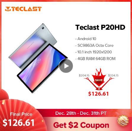 """Teclast P20HD 10,1 """"Android 10 планшет 1920x1200 SC9863A, четыре ядра, 4 Гб Оперативная память 64 Гб Встроенная память подключается к сети 4G AI Скорость-Планшеты двухслойный чехол для смартфона с Wi-Fi"""