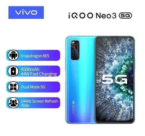 купить на алиэкспрессе Смартфон vivo iQOO Neo 3, 8 + 128 ГБ, 48 МП, 44 Вт, NFC