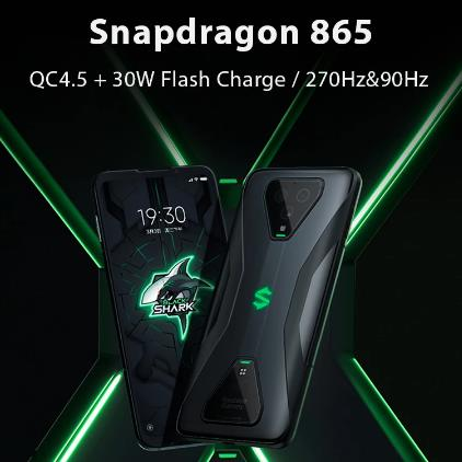 Глобальная версия Xiaomi Черная Акула 3 5G Snapdragon 865 8 ГБ 128 игры телефон Octa Core 64MP тройной AI камерами 65 Вт 4720 мА-ч