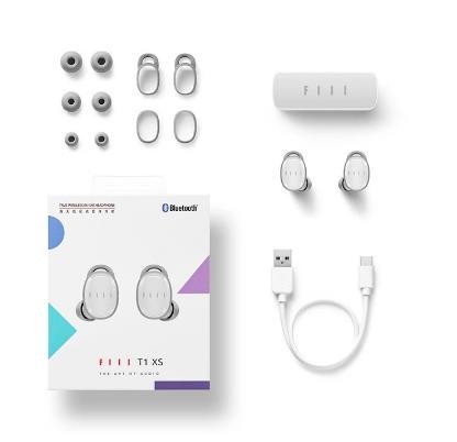 купить Електронный T1XS T1 Lite True Беспроводной гарнитуры спортивные Bluetooth 5,0 наушники-вкладыши с Батарея наушники-вкладыши TWS Bluetooth гарнитуры активной функцией подавления шума Cance
