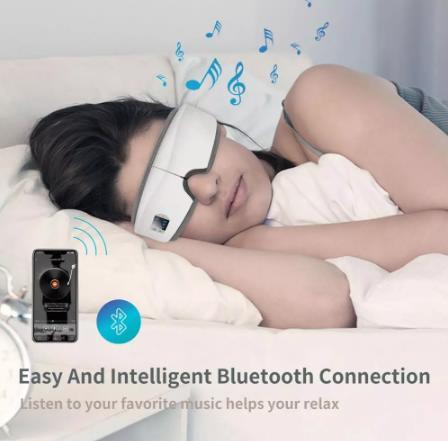 купить 4D умная подушка безопасности Вибрационный массажер для глаз Уход за глазами Instrumen Отопление Bluetooth Музыка снимает усталость и темные круги