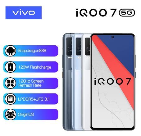 купить Vivo Оригинал iQOO 7 5G Смартфон Snapdragon 888 120 Вт Dash зарядка 120 Гц частота обновления Android 11 оригинальный телефон