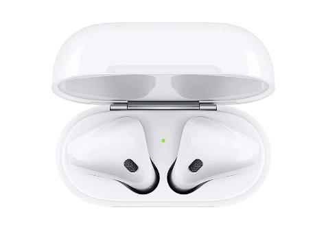 купить со скидкой на алиэкспресс Наушники Apple AirPods 2 с зарядным футляром
