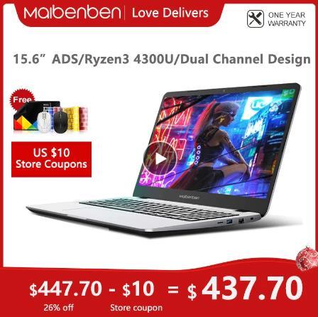 купить на алиэкспресс MAIBENBEN ноутбук M543 ноутбук [AMD Ryzen 3 4300U, 15,6-дюймовый ADS FHD,4G/8G/16G Linux/Windows10] один год гарантии