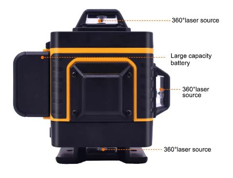 купить Лазерный уровень PRACMANU, самонивелирующийся 16 линий 4D, горизонтальный и вертикальный крест, сверхмощный нивелир с зелеными линиями, 360