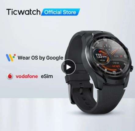 купить на али Введите TIC800, чтобы сэкономить 800руб TicWatch Pro 4G/LTE Европейская версия 1 ГБ ОЗУ отслеживание сна IP68 Водонепроницаемые часы NFC LTE для Vodaphone в Германии мужские спортивные часы