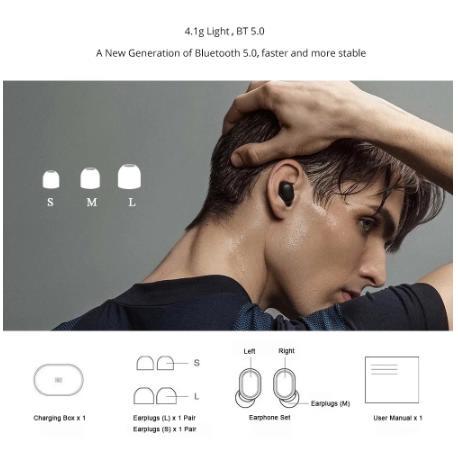 Глобальная версия Xiaomi Redmi Airdots 2 Наушники-вкладыши TWS беспроводной Bluetooth 5,0 наушники Mi беспроводные наушники Basic 2 автоссылки TWSEJ061LS