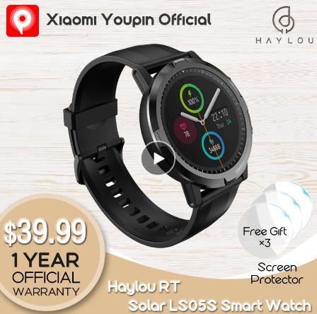 2021 новые Youpin Haylou RT LS05S умные часы, отображающие сердцебиение IP68 Водонепроницаемый длинные Срок службы батареи спортивные часы для женщин и мужчин