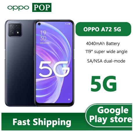 OPPO A72 5G смартфон 6,5 дюймов 6 ГБ 128 MT6853V Octa Core Android 10 SA НСА двойной режим 18 Вт Quick Charge