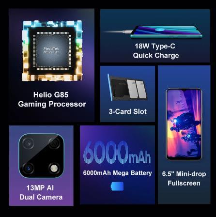 Смартфон Realme Narzo 30A, глобальная версия, 4 ГБ 64 ГБ, Helio G85, 6,5 дюйма, полноэкранный режим, 13 МП, AI, двойная камера, 6000 мАч ₽8800-800 Промо-код: HAPPYBDAY800 (Использовать на 3-29 00:00:00 — 4-02 23:59:59)