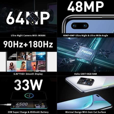 Новая глобальная версия Infinix Zero 8, 8 ГБ, 128 ГБ, смартфон, 6,85 дюйма, FHD, 90 Гц, полноэкранный режим, 64 МП, четырехъядерная камера, 4500 мАч, аккумулятор, 33 Вт, зарядное устройство