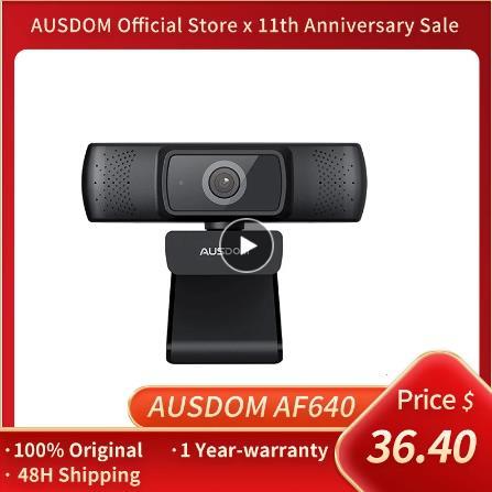 Веб-камера AUSDOM AF640 Full HD 1080P с автофокусом и шумоподавлением