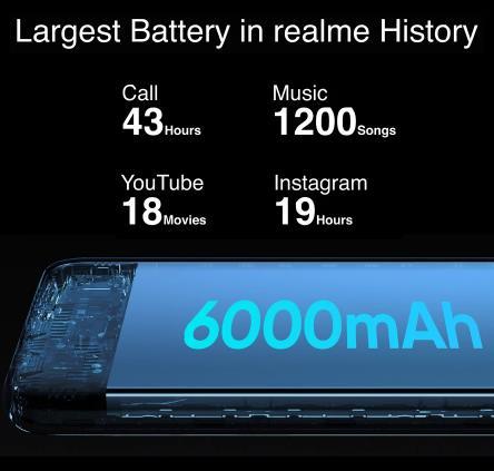 "Realme 7i RMX2193 6,5 """" HD + 4GB 64GB 48MP AI тройной камеры смартфон Helio G85 Octa Core 18 Вт Quick Charge 6000 мА/ч, мобильный телефон"