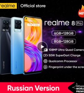 [Мировая премьера в наличии] realme 8 Pro 108MP Камера глобальная версия Snapdragon 720G смартфон 6,4 ''amoled 50 Вт Супер Дротика заряда