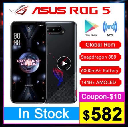 """Оригинальная материнская плата Asus ROG 5 5G игровой телефон 6,78 """"16RAM 144 Гц Дисплей Snapdragon 888 6000 мАч быстрой зарядки 65 Вт ROG5 мобильный телефон"""