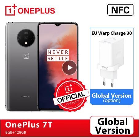 Глобальная версия OnePlus 7 T, 7 T, 8GB Смартфон Snapdragon 855 Plus 90 Гц активно-матричные осид, Экран 48MP тройной Камера OnePlus официального магазина