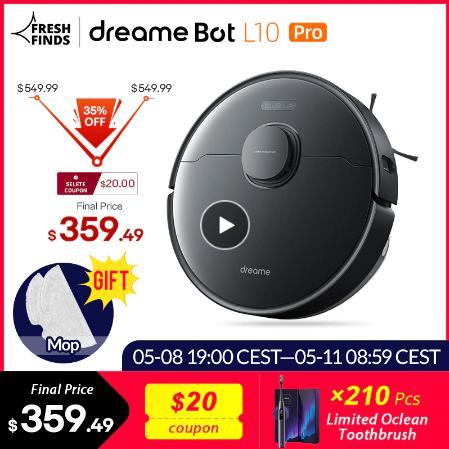 [Мировая премьера в наличии] Dreame Bot L10 Pro робот-пылесос 4000Pa мощный всасывания 150 минут авто заряд Электрический Топливный бак