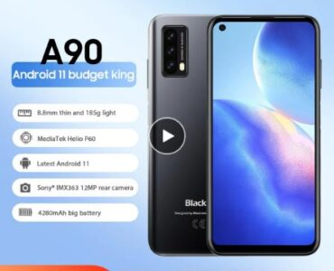 Blackview A90 смартфон Helio P60 Octa Core 13MP HDR Камера мобильный телефон 4 Гб + 64 Гб 4280 мАч Android 11 Телефон 4 аппарат не привязан к оператору сотовой связи Чехол для мобильного телефона