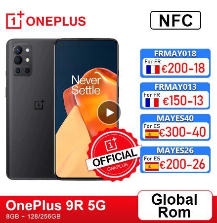 Глобальная прошивка OnePlus 9R 9 R 5G смартфон 8 ГБ 128 Snapdragon 870 120 Гц активно-матричные осид, Дисплей 65 Вт Warp 48MP Quad OnePlus официального магазина Carter's; код