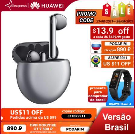 【КОД OD: PODARIM, -890 ₽】наушники беспроводной Huawei FreeBuds 4,Активное шумоподавление 2.0,Высококачественный звук,Комфорт и невесомость
